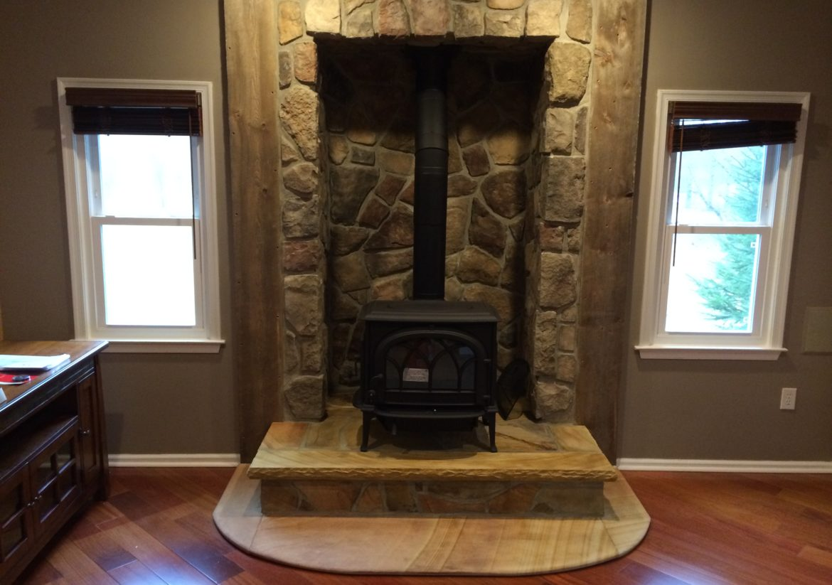 Bowden S Fireside Recently Visited A Home In Millstone Nj And Turned Prefabricated Fireplace Into This Wood Stove With An Alcove
