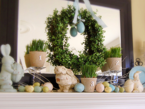 Easter Fireplace Mantel Decor Ideas