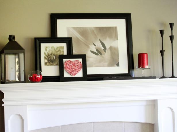 Valentine's Day Fireplace Mantel Decor Ideas