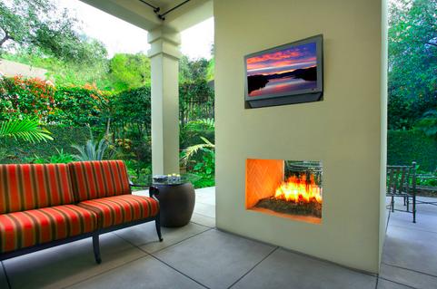 Double Sided Fireplace Design Idea