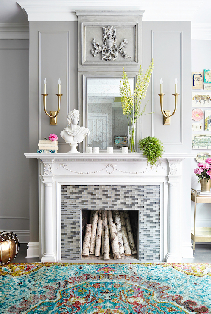 Our Favorite Spring Fireplace Mantel Decor Ideas