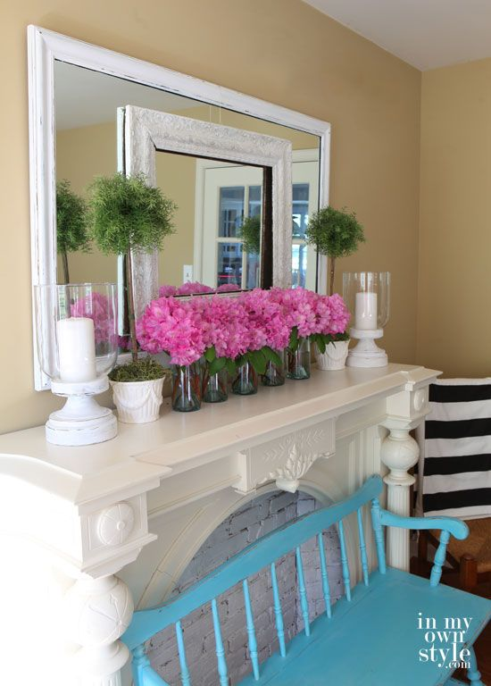 Our Favorite Spring Fireplace Mantel Décor Ideas.