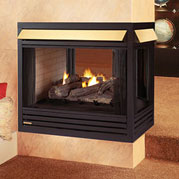 superior gas fireplace lennox gas vent free gas fireplaces lennoxgasburningfireplaceventfreesuperiorvfpfthreesided superior vfpf ventfree threesided fireplace bowdens fireside