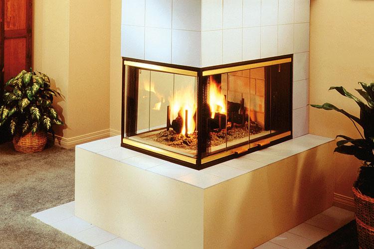 Cpf 38 Three Sided Peninsula Wood Burning Fireplace