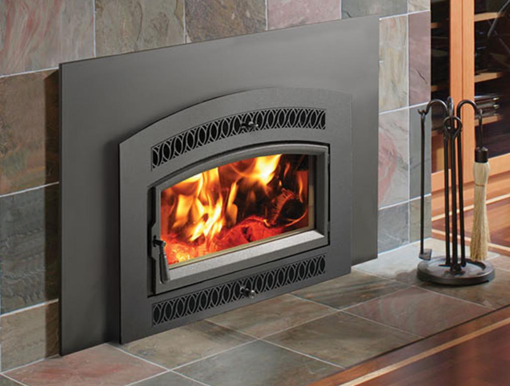 FPX Medium Flush Arched Wood Burning Fireplace Insert ...